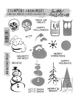 Tim Holtz® Stampers Anonymous - Cling Mount Stamps - Mini Halftones Stamps Tim Holtz Other