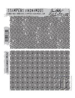 Tim Holtz® Stampers Anonymous - Cling Mount Stamps - ZigZag & Diamonds