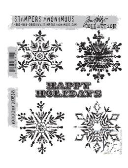 Tim Holtz® Stampers Anonymous - Cling Mount Stamps - Weathered Winter