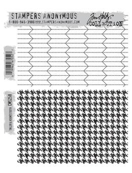 Tim Holtz® Stampers Anonymous - Cling Mount Stamps - Tailored & Houndstooth