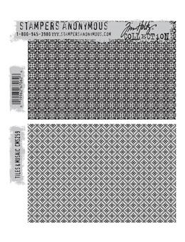 Tim Holtz® Stampers Anonymous - Cling Mount Stamps - Tiles & Moasic
