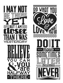 Tim Holtz® Stampers Anonymous - Cling Mount Stamps - Motivation #3