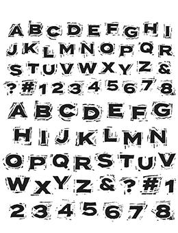 Tim Holtz Stampers Anonymous Cling Mount Stamps - Blockprint Stamps Tim Holtz Other