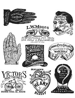 Tim Holtz Stampers Anonymous Cling Mount Stamps Eclectic Stamps Tim Holtz Other