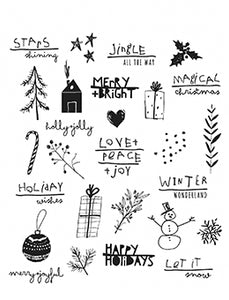 Tim Holtz® Stampers Anonymous Seasonal Scribble Stamp