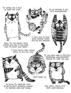 Tim Holtz Snarky Cat Stamp Set Stamps Tim Holtz Other