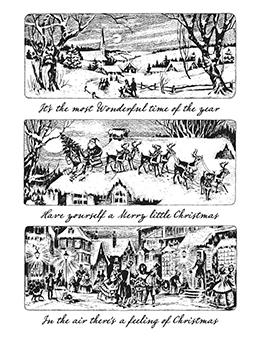 Tim Holtz Cling Mount Stamp Holiday Scenes Stampers Anonymous Tim Holtz Other
