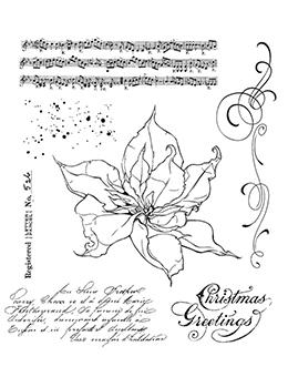 Tim Holtz Cling Mount Stamp The Poinsettia Stampers Anonymous Tim Holtz Other