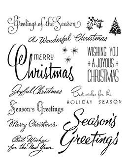 Tim Holtz Cling Mount Stamp Christmas Time #3 Stampers Anonymous Tim Holtz Other