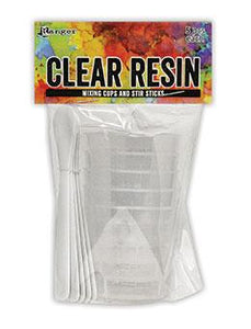 Ranger Clear Resin Mixing Cups and Stir Sticks, 5pc Tools & Accessories Ranger Ink