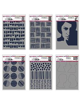 Dina Wakley Media Stencil Bundle Bundles Dina Wakley Media