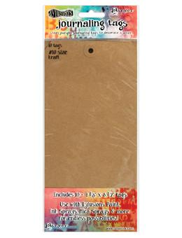 Dylusions Journaling Tags #10 Kraft, 10pc