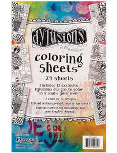 Dylusions Colouring Sheets Collection 1 Ephemera & Image Assortments Dylusions