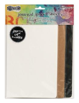 Dylusions Creative Journal Small Insert Sheets, 12pc