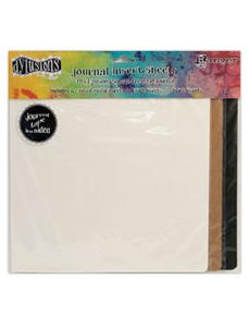 Dylusions Creative Journal Square Insert Sheets, 12pc