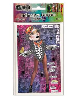 Dylusions Adhesive Canvas Printed 2, 8pc Ephemera & Image Assortments Dylusions
