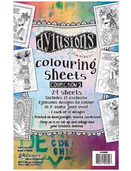 Dylusions Colouring Sheets Collection 2 Ephemera & Image Assortments Dylusions
