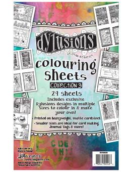 Dylusions Colouring Sheets Collection 3 Ephemera & Image Assortments Dylusions