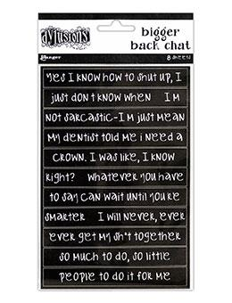 Dylusions Bigger Back Chat - Black Ephemera & Image Assortments Dylusions