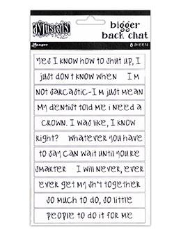 Dylusions Bigger Back Chat - White Ephemera & Image Assortments Dylusions