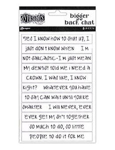 NEW! Dylusions Bigger Back Chat - White