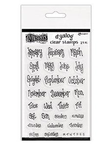 NEW!  Dylusions Dyalog Clear Stamps - Blind Date