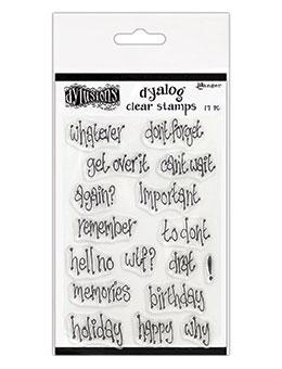 NEW! Dylusions Dyalog Clear Stamps - Whatever