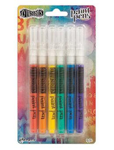 Dylusions Paint Pens-Basics, 6pc