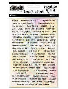 Dylusions Creative Dyary Stickers - Back Chat Creative Dyary Dylusions