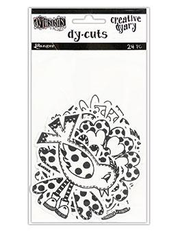 Dylusions Creative Dyary Dycuts - 3, 24pc Creative Dyary Dylusions