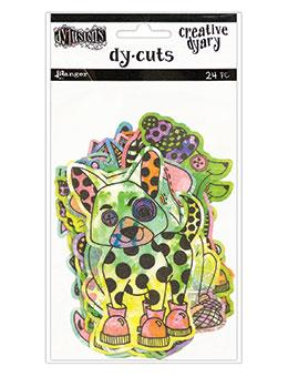 Dylusions Creative Dyary Dycuts - 4, 24pc