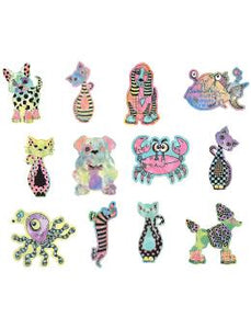 Dylusions Creative Dyary Dycuts - 4, 24pc Creative Dyary Dylusions