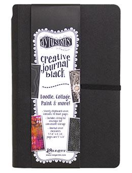 NEW! Dylusions Creative Small Black Journal