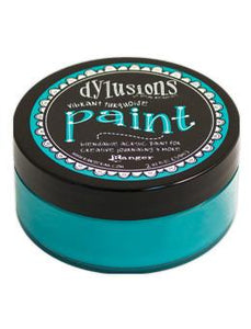 Dylusions Paint Vibrant Turquoise, 2oz Paint Dylusions