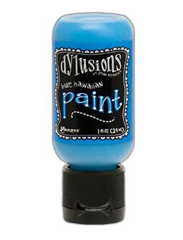 Dylusions Flip Cap Paint Blue Hawaiian, 1oz Paint Dylusions