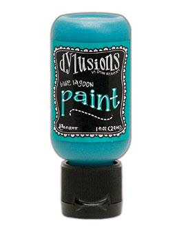 Dylusions Flip Cap Paint Blue Lagoon, 1oz Paint Dylusions