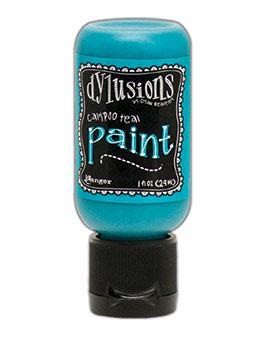 Dylusions Flip Cap Paint Calypso Teal, 1oz Paint Dylusions