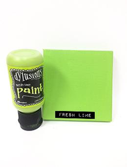 Dylusions Flip Cap Paint Fresh Lime, 1oz Paint Dylusions