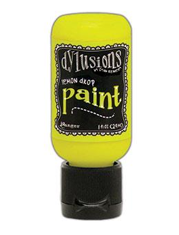 Dylusions Flip Cap Paint Lemon Drop, 1oz Paint Dylusions