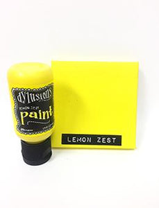 Dylusions Flip Cap Paint Lemon Zest, 1oz Paint Dylusions