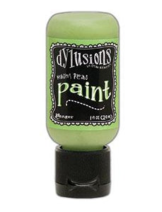 Dylusions Flip Cap Paint Mushy Peas, 1oz Paint Dylusions