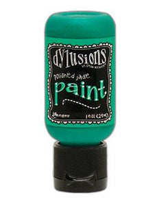Dylusions Flip Cap Paint Polished Jade, 1oz Paint Dylusions