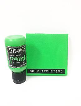 Dylusions Flip Cap Paint Sour Appletini, 1oz Paint Dylusions