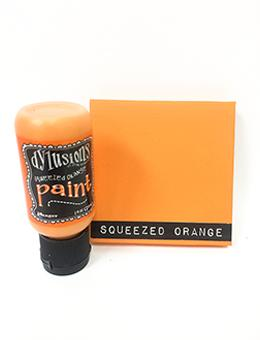Dylusions Flip Cap Paint Squeezed Orange, 1oz Paint Dylusions