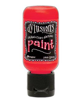 Dylusions Flip Cap Paint Strawberry Daiquiri, 1oz Paint Dylusions
