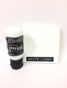 Dylusions Flip Cap Paint White Linen, 1oz Paint Dylusions