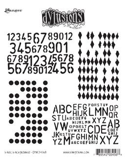 Dylusions Cling Mount Stamps Basic Backgrounds Stamps Dylusions