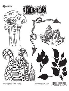 Dylusions Cling Mount Stamps Doodle Parts