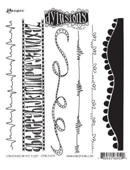 Dylusions Cling Mount Stamps Bordering on the Edge Stamps Dylusions