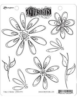 Dylusions Cling Mount Stamps Fancy Florals